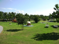 Vue du parc F. Mitterrand